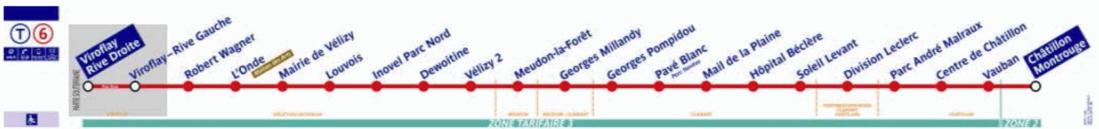 Plan de ligne RATP T6