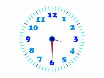 horloge_bleue