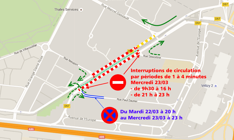 Restrictions de circulation 23 mars 2016