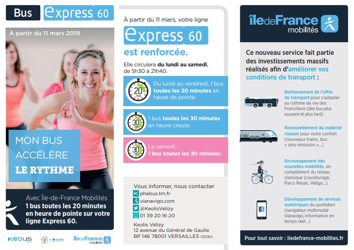 11 mars 2019: horaires de printemps sur les lignes Phébus Vélizy