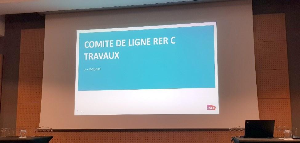 Travaux à venir sur la ligne RER C: comité de ligne du 20 juin 2019