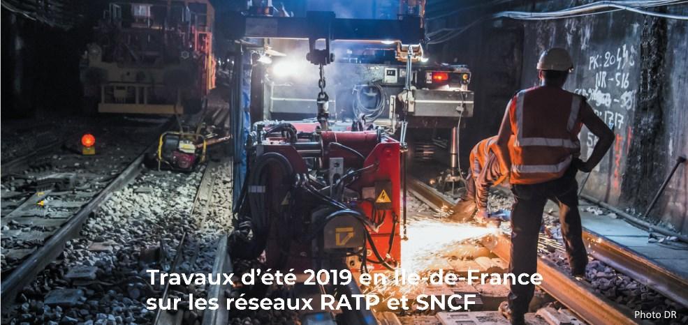 Travaux d'été RATP et SNCF 2019
